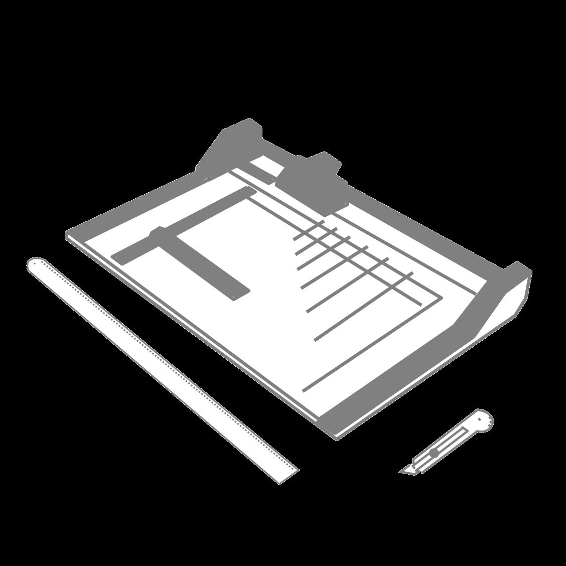Порізка великих листів паперу на формати